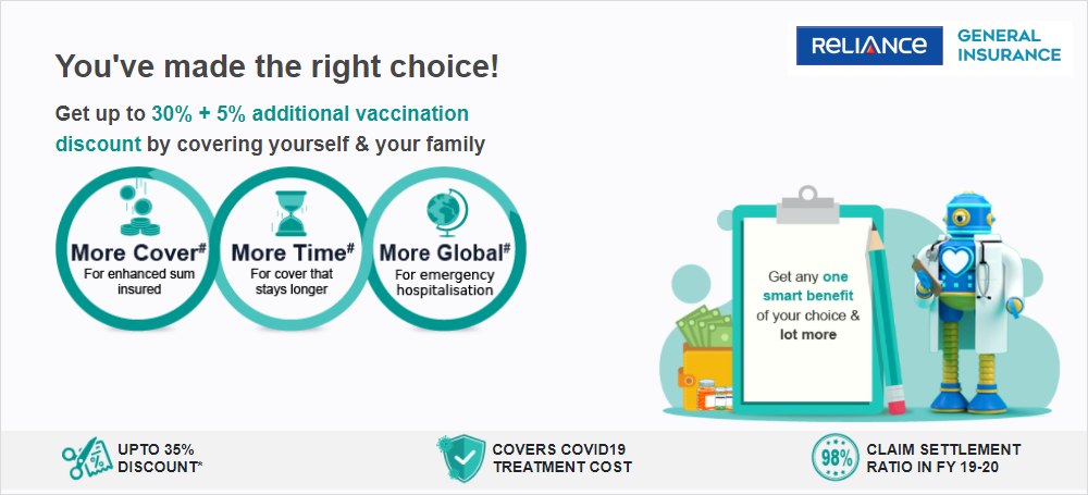 Reliance General Insurance Introduces 5% Special Discount to Encourage Covid Vaccination